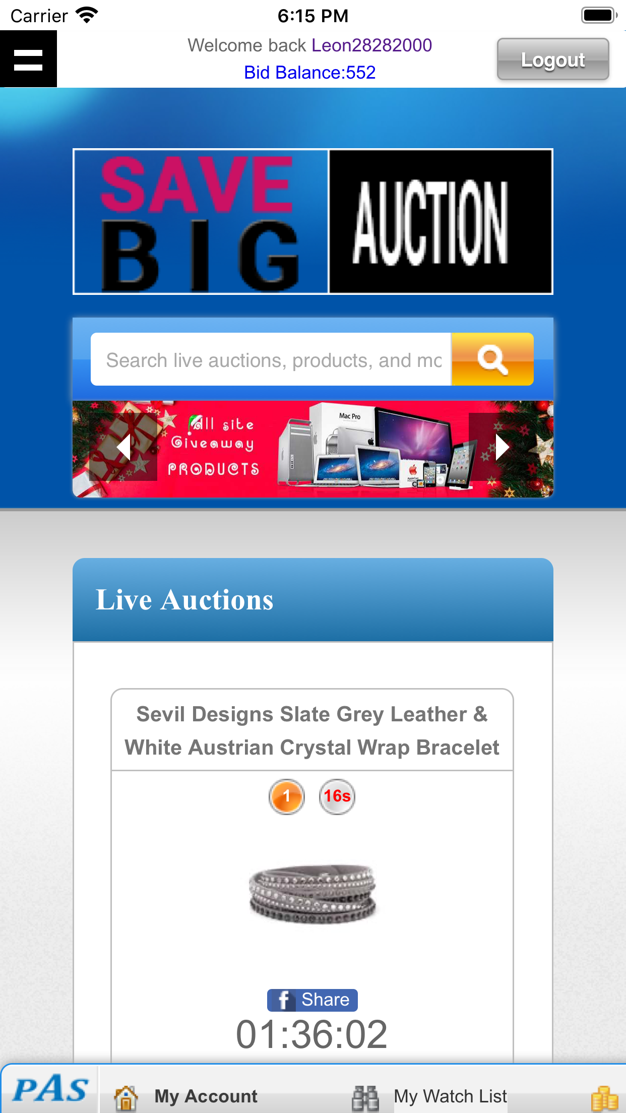 Penny Auction Mobile Apps